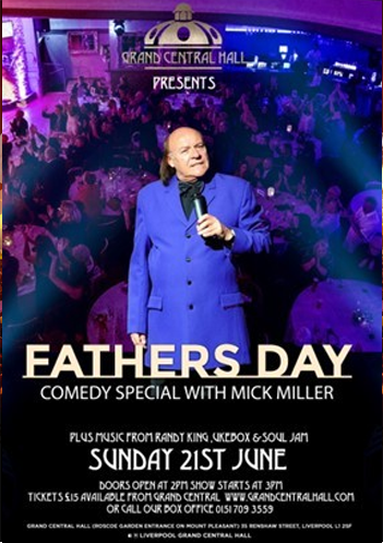 SUNDAY 21ST JUNE - FATHERS DAY.